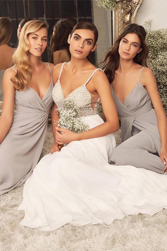 True Love White Beaded Rhinestone Maxi Dress - Lulus