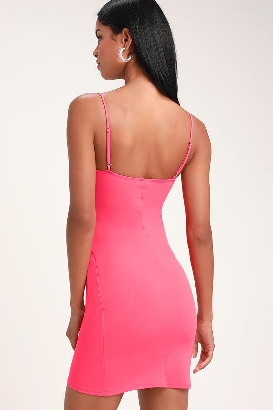 30576faa443951 Sexy Pink Dress - Cutout Dress - Bodycon Dress - Cutout Bodycon