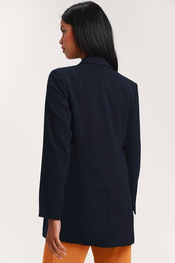 ffa53654077f8a Cute Navy Blue Blazer - Oversized Blazer - Women s Blazer