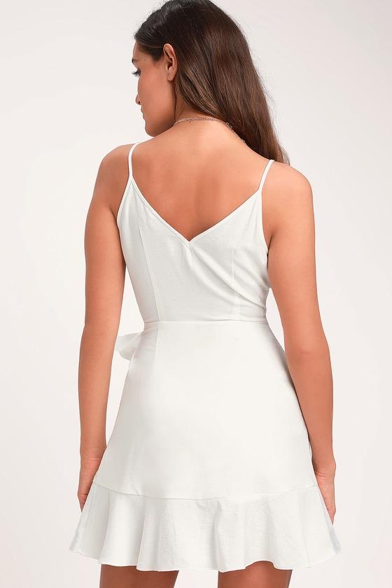 7b0dadf7e11 The Fifth Label Soulmate - Ivory Wrap Dress - White Wrap Dress