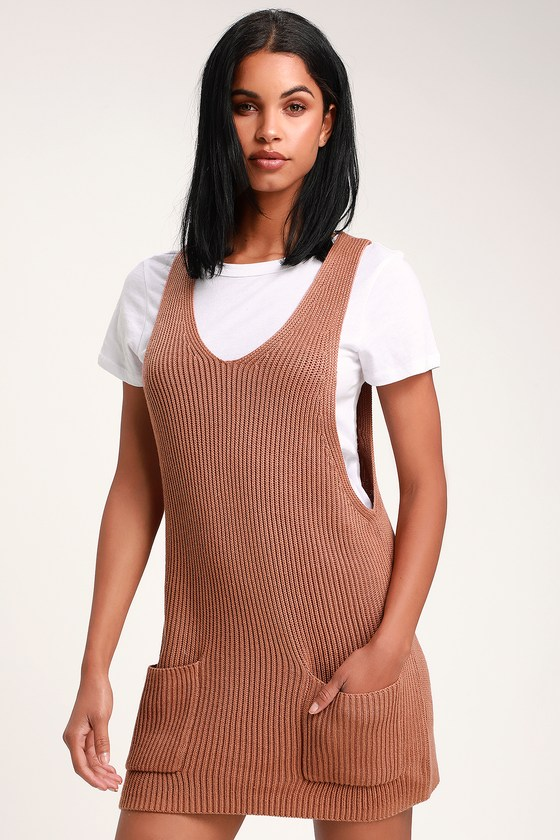 cb912b013781b Rhythm Florence Dress - Sweater Dress - Terra Cotta Mini Dress