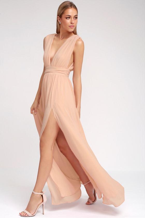 36e6bae863e1 Blush Gown - Maxi Dress - Sleeveless Maxi Dress -  84.00