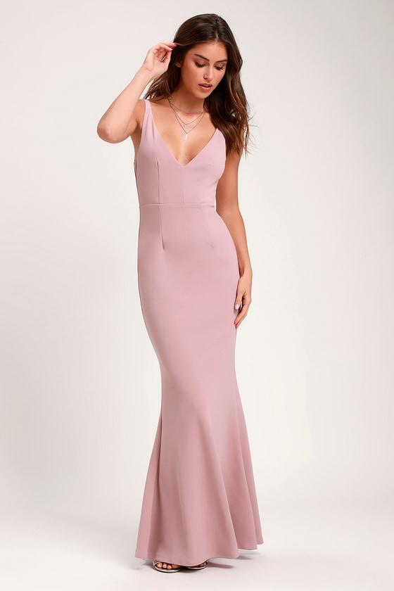 Dusty Rose Dress Sleeveless Maxi Dress Mermaid Maxi