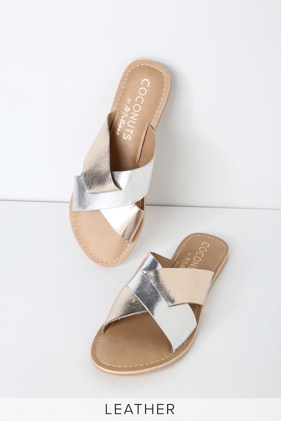 Silver Sandals - Flat Sandal