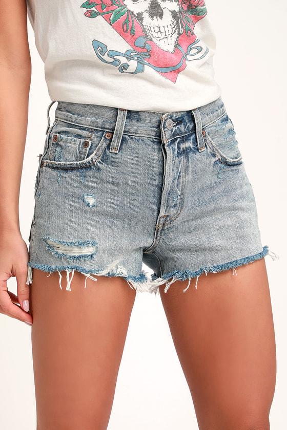 b02bc34f1 Levi's 501 Shorts - Mid-Rise Shorts - Cutoff Denim Shorts