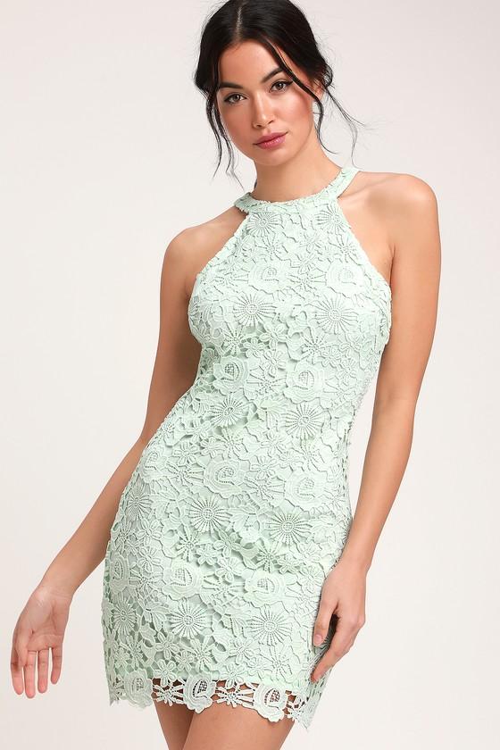 6e03d3edaa89 Lovely Lace Dress - Mint Green Lace Dress - Lace Sleeveless Dress