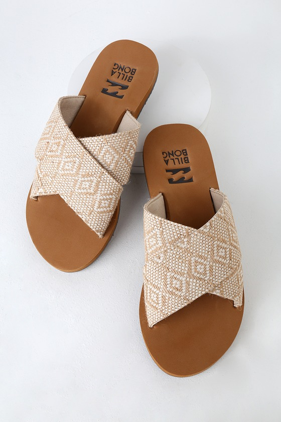 c528715af Billabong Surf Bandit - Beige Print Sandals - Slide Sandals