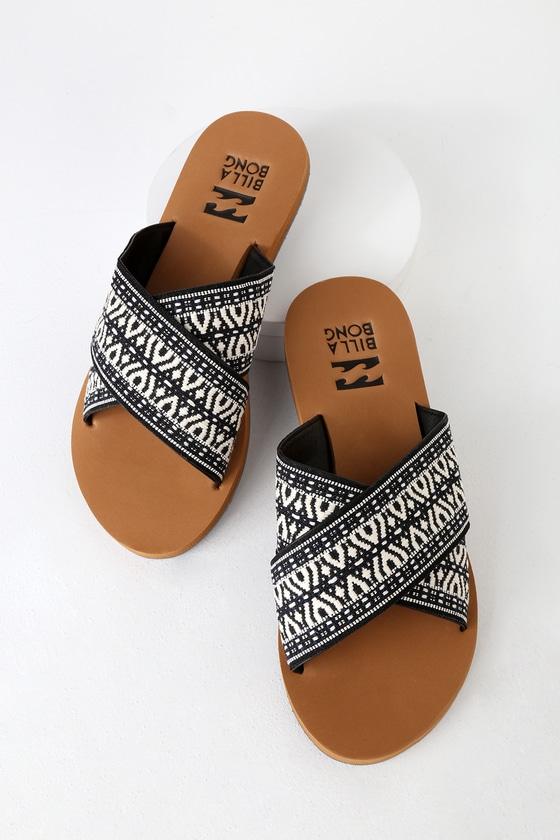 c9df4da5c Billabong Surf Bandit - Black Print Sandals - Slide Sandals