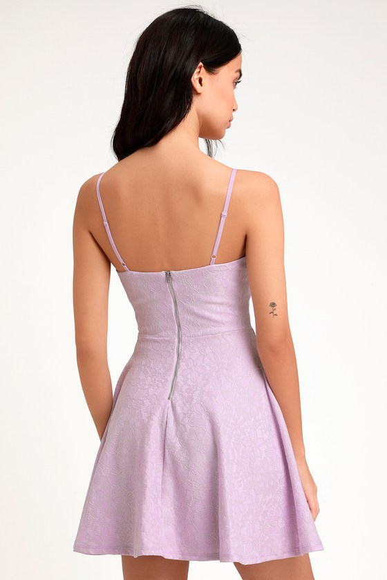 Way With Words Lavender Lace Skater Dress