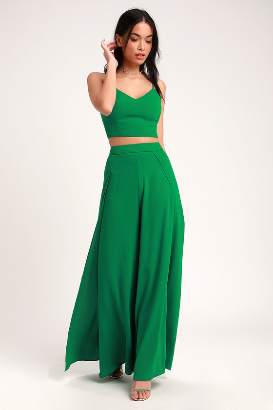 K'Mich Weddings - wedding planning - bridesmaids dresses - OUT TONIGHT GREEN TWO-PIECE JUMPSUIT - lulus