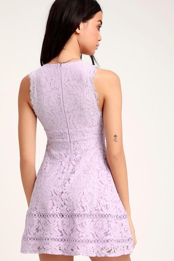 1bee7f82cad Cute Skater Dress - Lace Skater Dress - Lavender Lace Dress