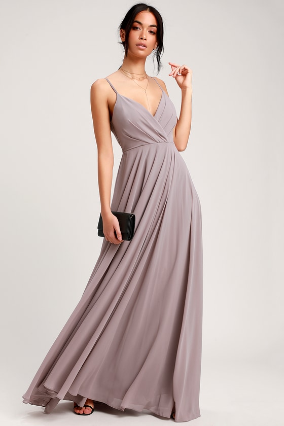 All About Love Taupe Maxi Dress - Lulus