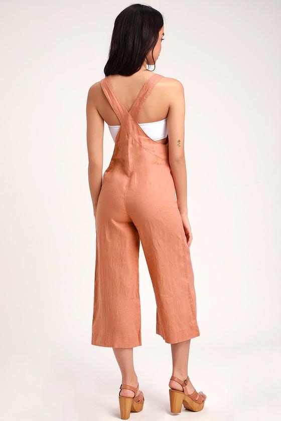 530905796f Rhythm Amalfi Jumpsuit - Rusty Rose Jumpsuit - Wide-Leg Jumpsuit