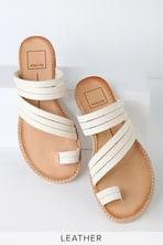5373bfa876f Steve Madden Farryn - White Leather Sandals - Studded Sandals