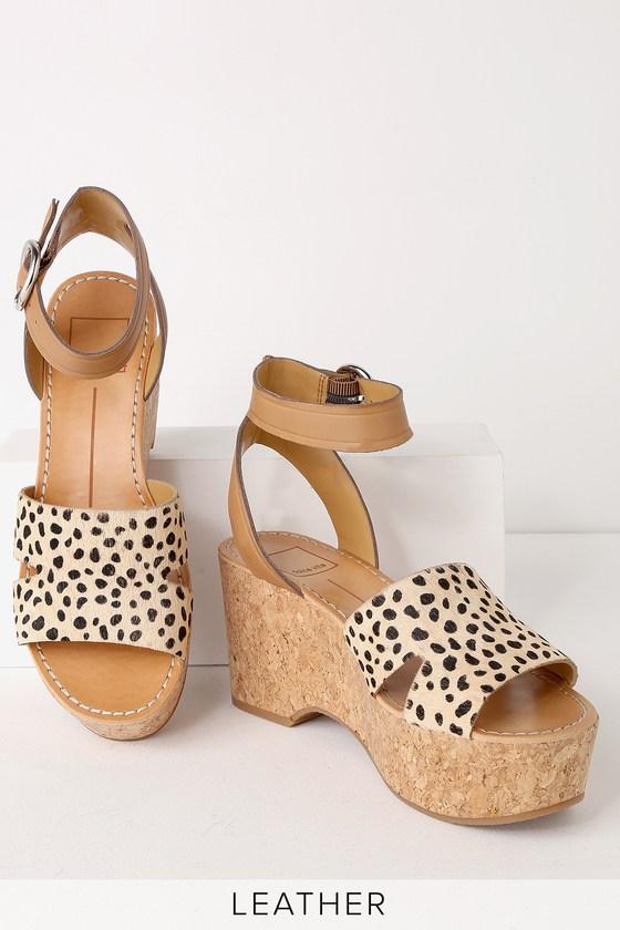 2a1339ab275f Dolce Vita Linda - Leopard Calf Hair Heels - Platform Heels