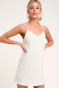 8995ebc55f9 Chic White Dress - Midi Dress - OTS Dress - White Ruffle Dress
