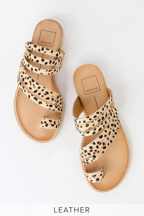 f1eb520d3157 Dolce Vita Nelly - Leopard Sandals - Flat Sandals - Sandals