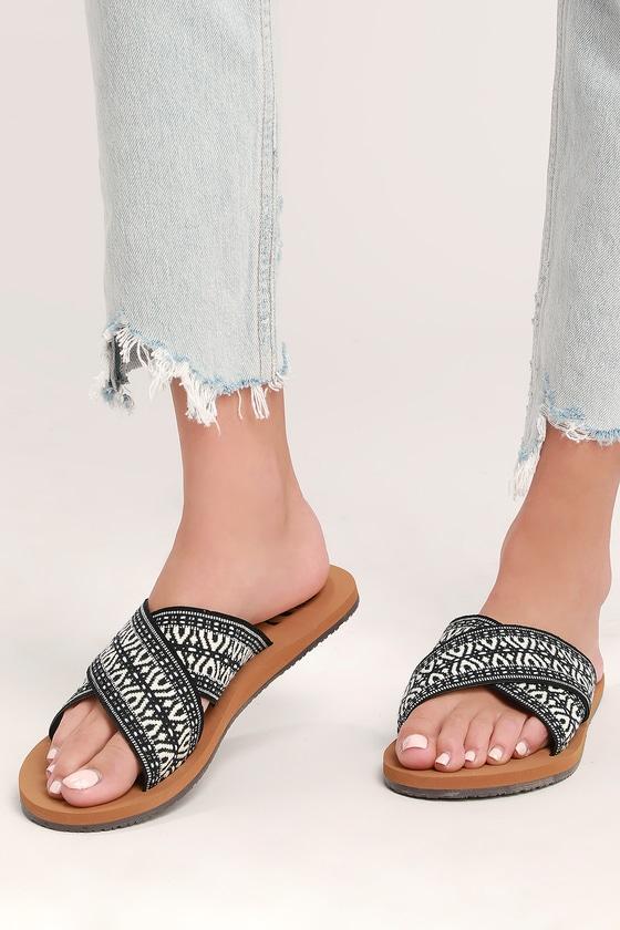 0363b0df5920 Billabong Surf Bandit - Black Print Sandals - Slide Sandals