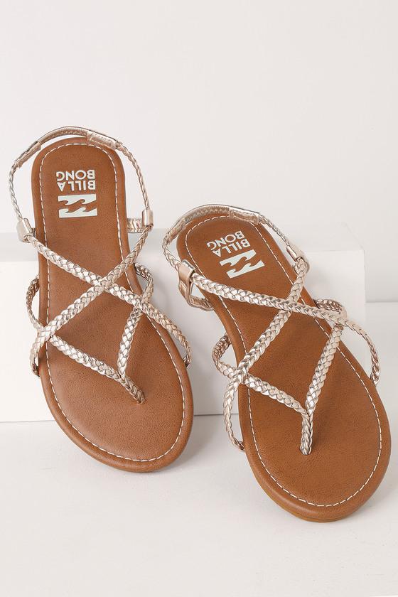 Billabong Crossing Over 2 - Metallic Sandals - Flat Sandals
