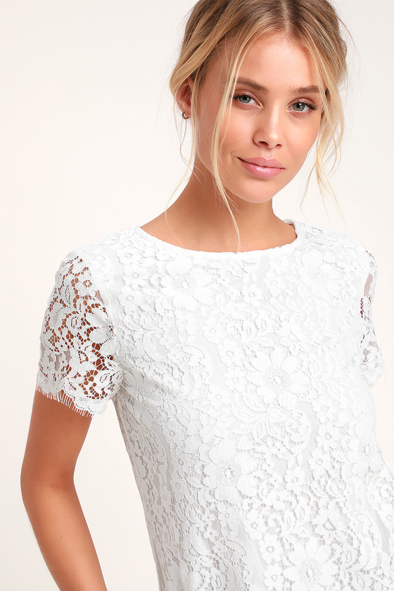 Cute White Top - White Lace Top - White Lace Blouse - Lace ...