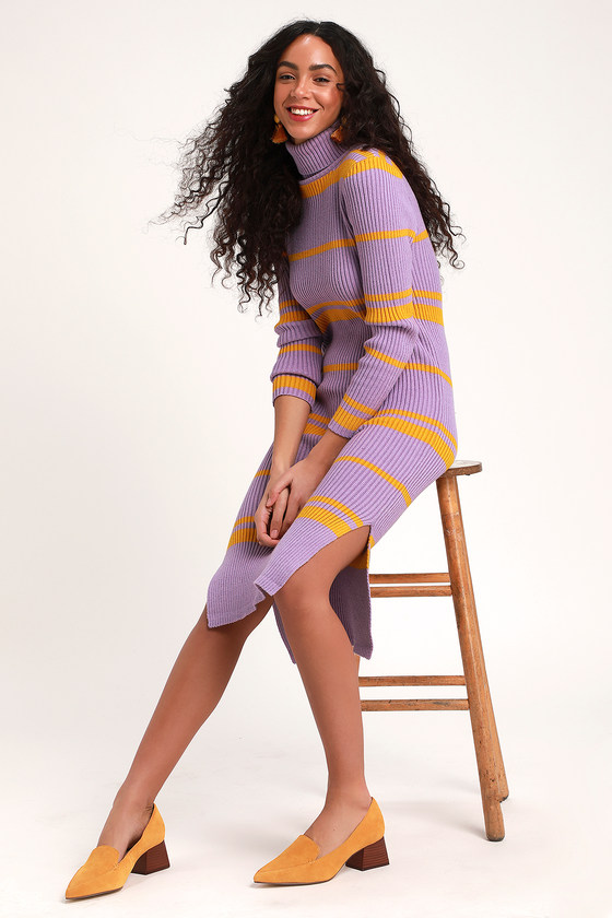 df709a10f Moon River Sweater Dress - Turtleneck Sweater Dress - Dress