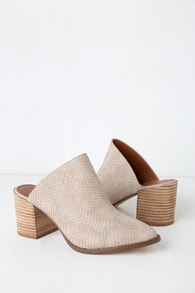 Report Tosh Stone Snake Embossed Pointed Toe Mules 7920253546cd