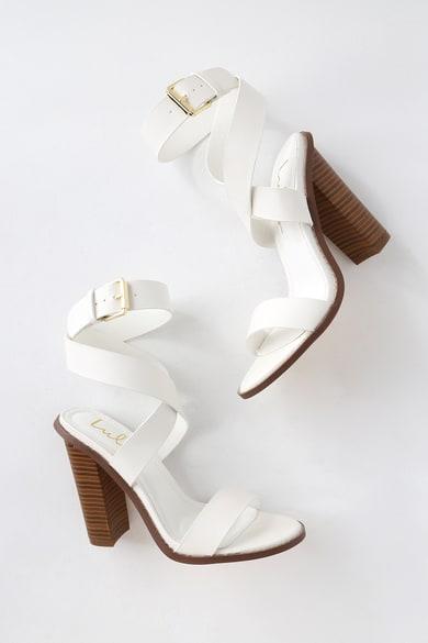 f23b8b4b6d952 White Shoes, Ivory Shoes, White Heels, Sandals & Wedges|Lulus
