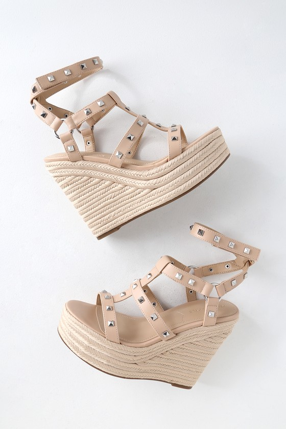 df988c6c6 Kendal + Kylie Give - Studded Wedges - Espadrille Wedges