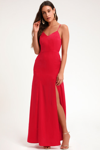 003361857bc Love for Luxe Red Maxi Dress