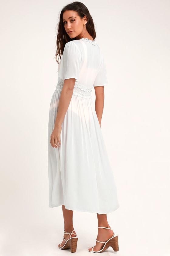 dd77d2a76aa18 Cute White Swim Cover-Up - White Duster - White Kimono Top