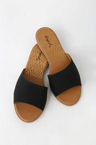 465930f0146dc Cute Nude Sandals - Slide Sandals - Flat Sandals -  15.00