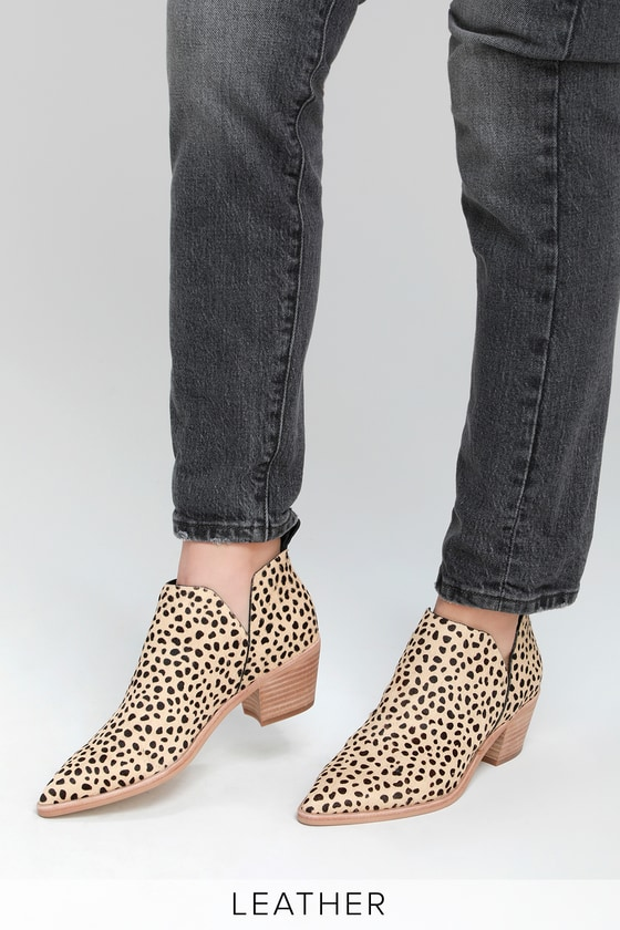 abc9182a1b8f Dolce Vita Sonni - Leopard Booties - Pointed-Toe Booties