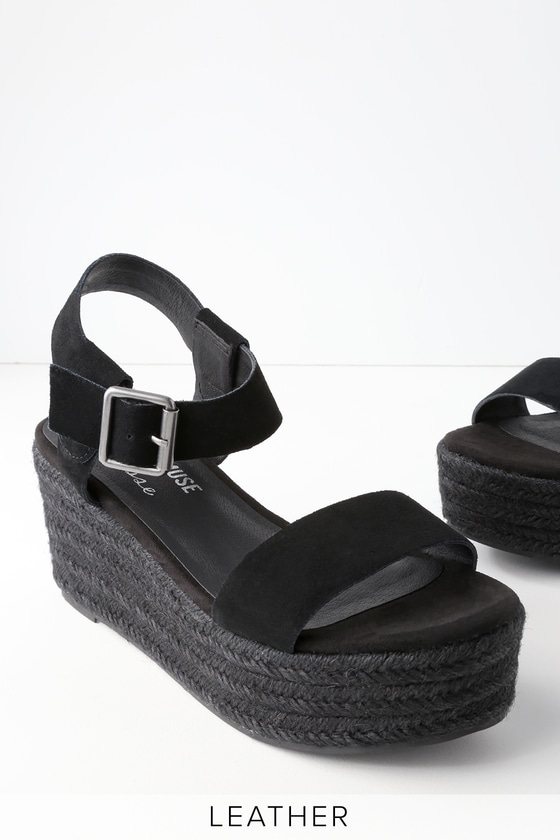 2fc1e649cd0 Amuse Society x Matisse Siena - Black Flatform Sandals