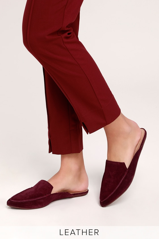 19afaaa11022 Chic Suede Loafers - Genuine Leather Loafers - Burgundy Loafers