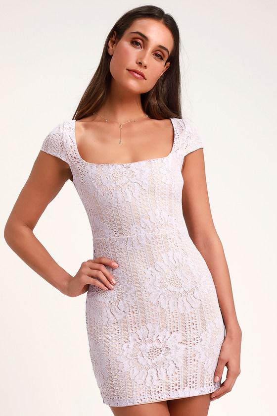 b22d80ebb24 Lovely Lace Dress - Lavender Lace Dress - Lace Mini Dress