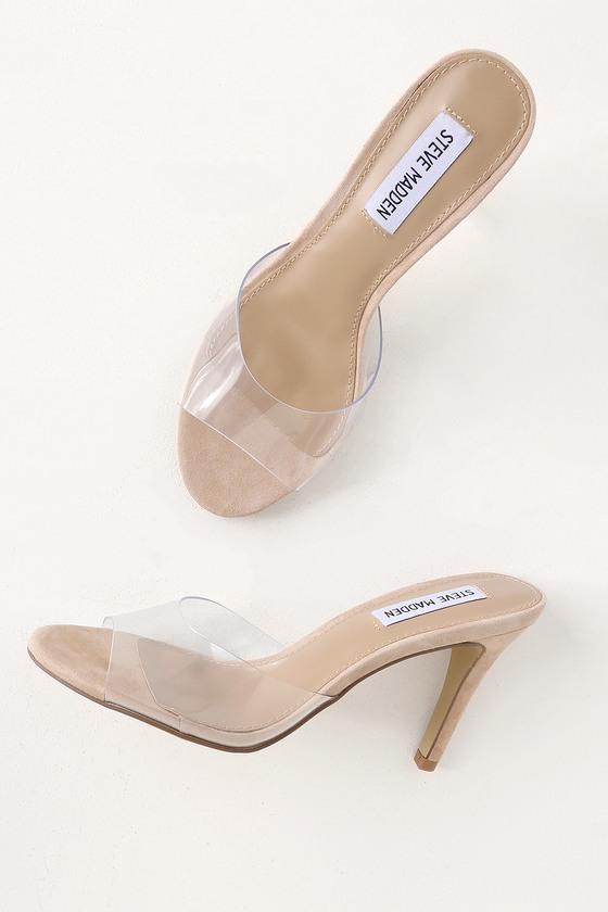 bff85ca9f4d Steve Madden Erin - Clear Heels - High Heel Sandals - Vinyl Heels