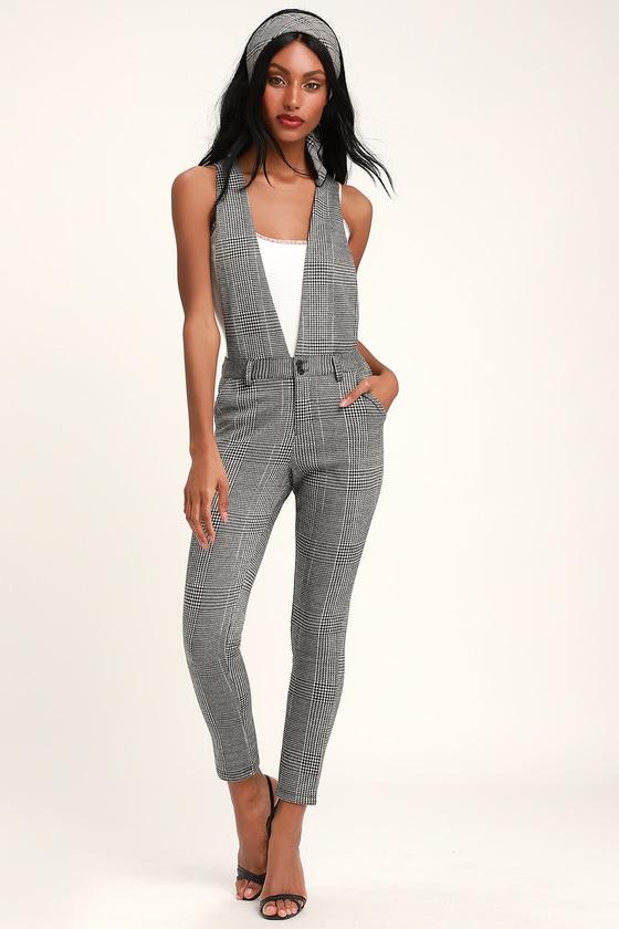 c3a03d3df05 Jack by BB Dakota Checkmate Jumpsuit - Black and White Jumpsuit
