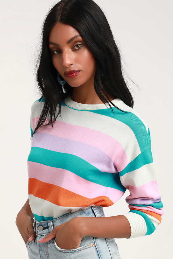 lulus striped sweater