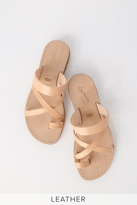 Flat Sandals Beige Vacchetta Precious Leather So nOP0kNX8wZ