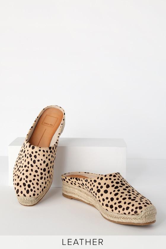 696b9310a52a Dolce Vita Brandi Slides - Leopard Slides - Leather Slides