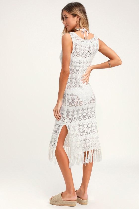 0031ce39f2bc Boho Cream Swim Cover-Up - Crochet Swim Cover-Up - Dress