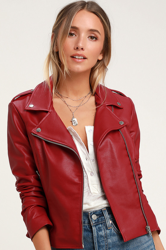 970382f6baa BB Dakota Beverly Thrills - Red Vegan Jacket - Moto Jacket