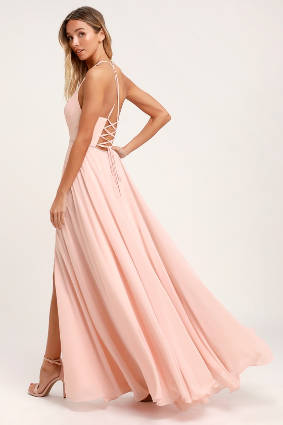 6f2c041aa Stunning Maxi Dress - Blush Pink Maxi Dress - Rhinestone Dress