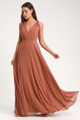 f9c13ca90 Dance the Night Away Rusty Rose Backless Maxi Dress