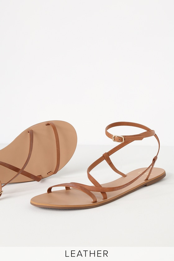 7059b81a7 Cute Leather Sandals - Brown Leather Sandals - Strappy Sandals