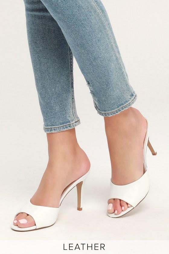 3853f57fb3a8 Steve Madden Erin - White Heels - White High Heel Sandals