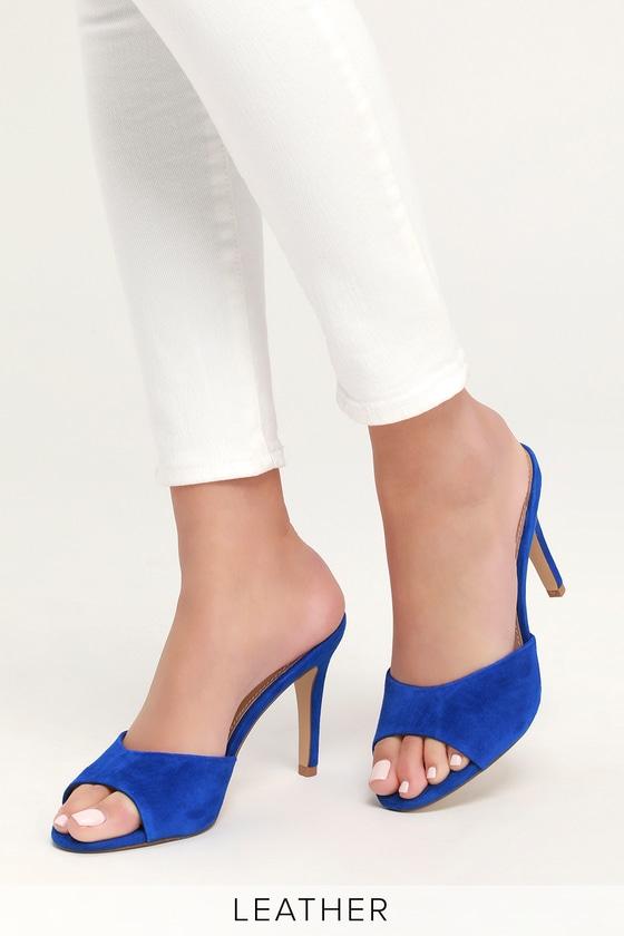 cf3cbc41c51 Steve Madden Erin - Cobalt Blue Heels - Cobalt High Heel Sandals