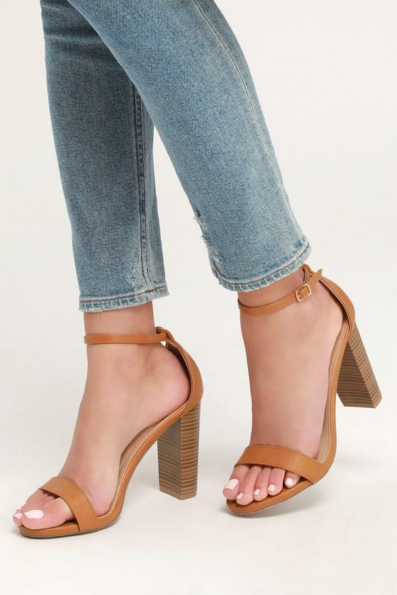 d4500872a7d0 Sexy Camel Heels - Ankle Strap Heels - Single Sole Heels - Heels