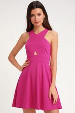 c1a05bd463e Lovely Wine Red Dress - Skater Dress - Racerback Dress -  44.00