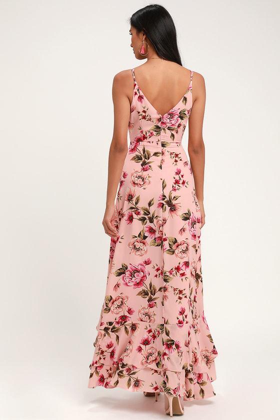 93e013b6971a Pretty Pink Floral Print Dress - Blush Pink Tiered Ruffle Dress